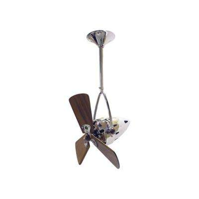 Jarold Direcional 16 in. Indoor/Outdoor Brushed Nickel Ceiling Fan with Wall Control