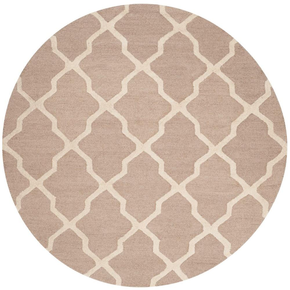 Stella Collection Hand Tufted Area Rug In Beige Light: Safavieh Cambridge Beige/Ivory 10 Ft. X 10 Ft. Round Area
