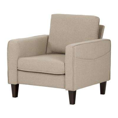 Live-it Cozy 1-Seat Oatmeal Beige Sofa