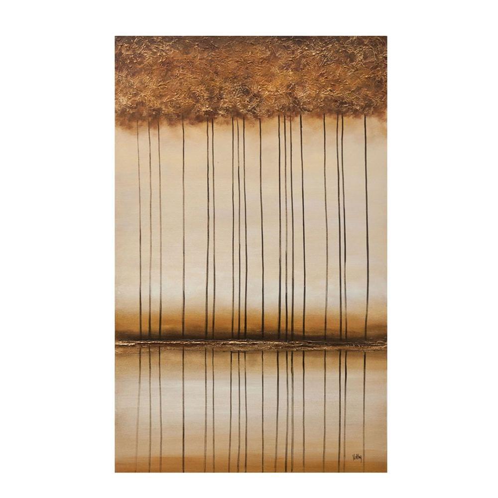 """Filament Design Luna 48 in. x 30 in. """"Bronze Landscape"""" Canvas Wall Art"""