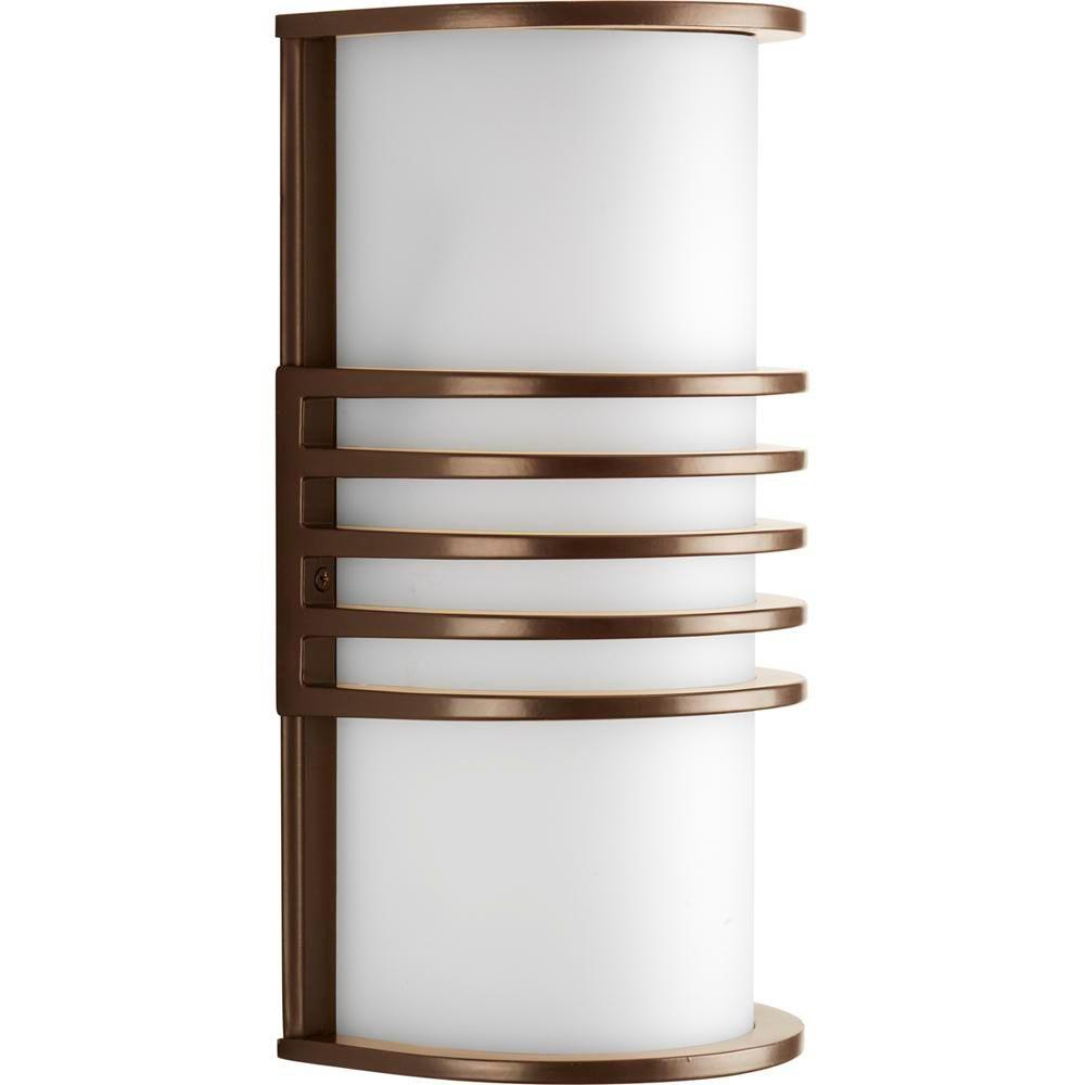 Progress Lighting Parker Collection Antique Bronze 10.25 in. Outdoor Wall Lantern Sconce