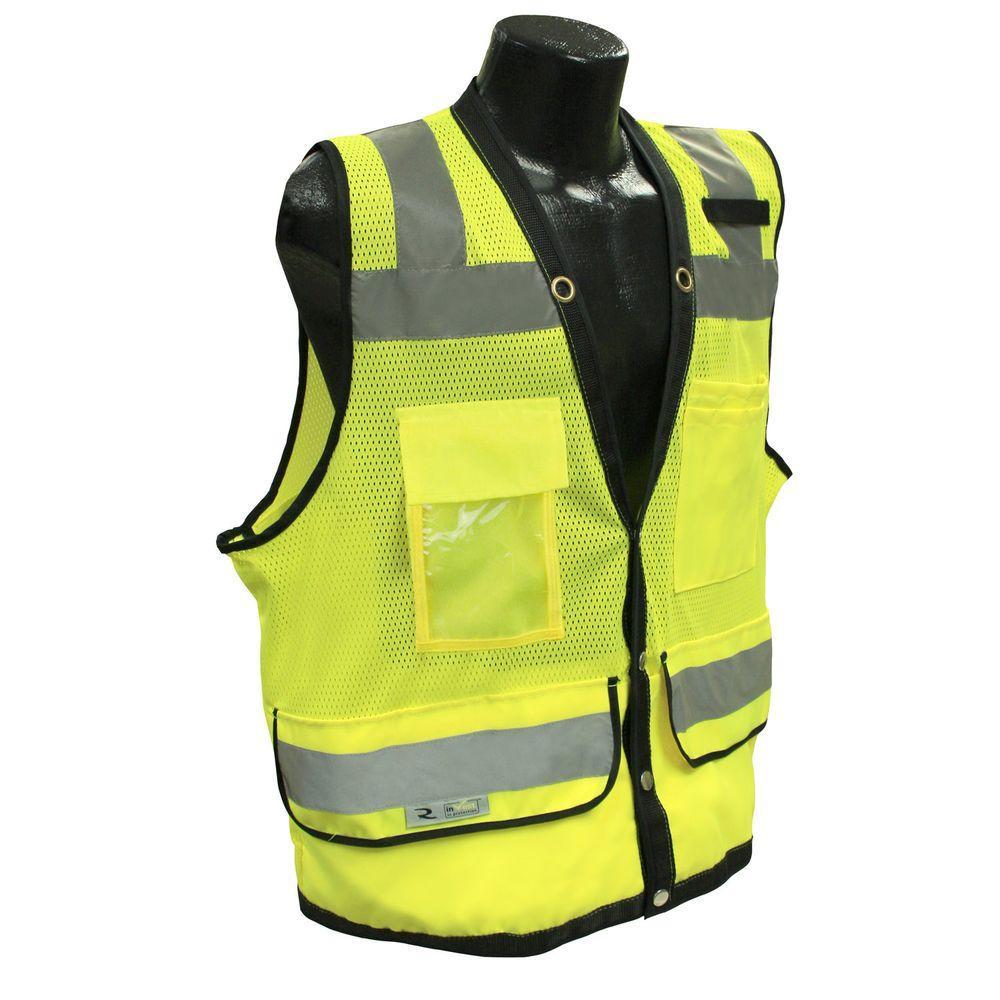 CL 2 Heavy Duty Large Surveyor Green Dual Safety Vest