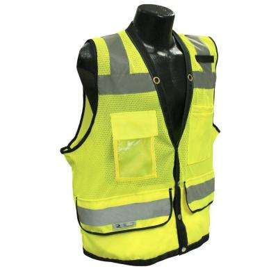 CL 2 Heavy Duty 4X Surveyor Green Dual Safety Vest