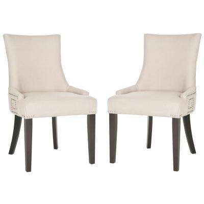 Gretchen Taupe/Espresso Linen Side Chair (Set of 2)