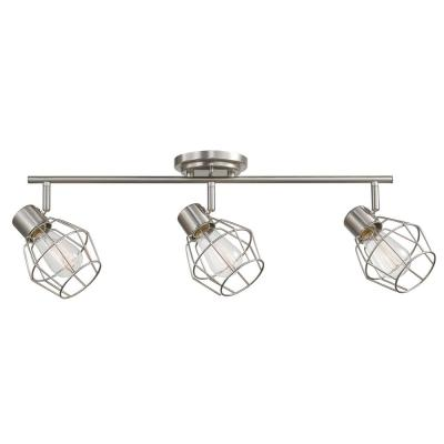 Jax 3-Light Brushed Nickel Track Lighting Kit, Incandescent Bulbs Included