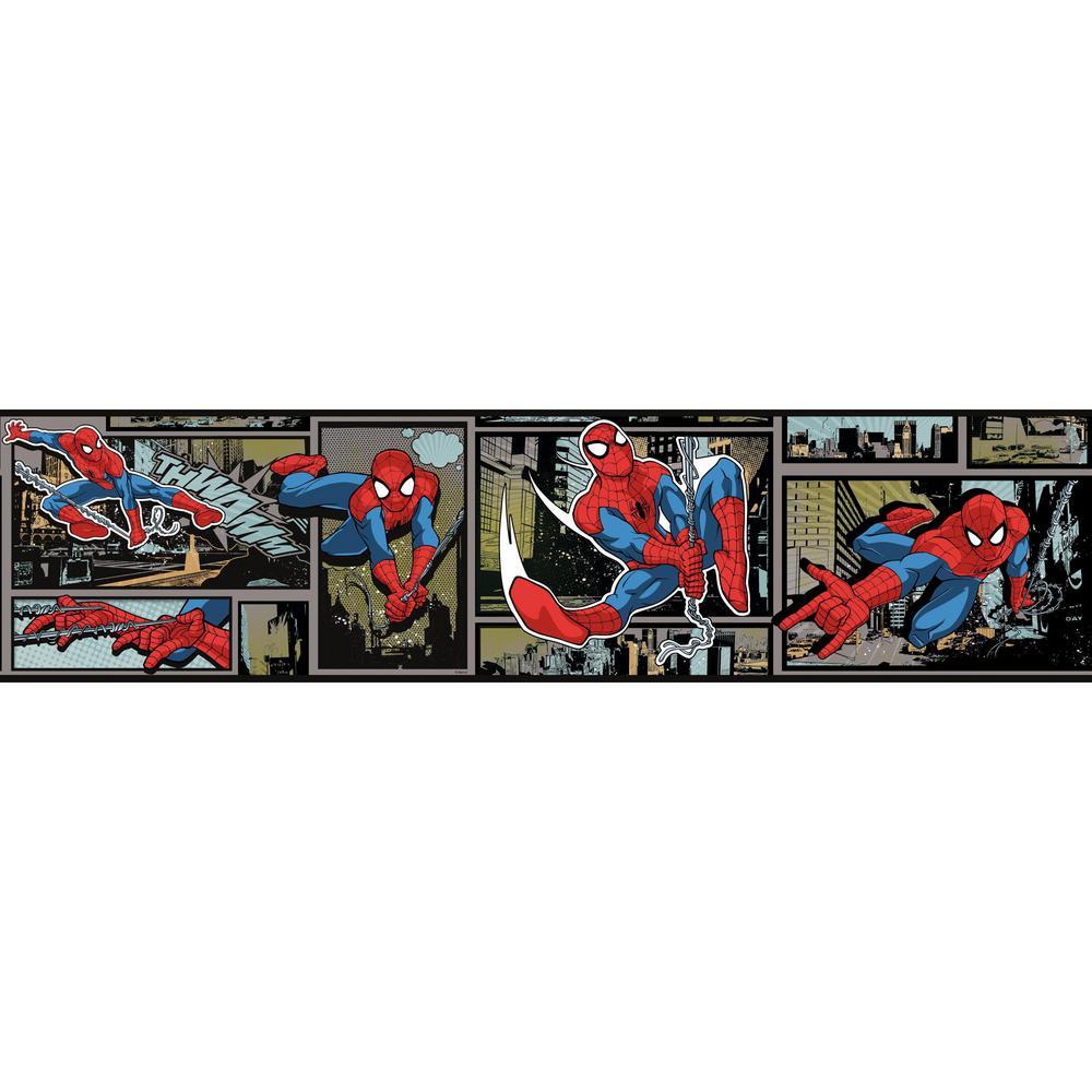 York Wallcoverings Disney Kids Iii Marvel Ultimate Spiderman Comic