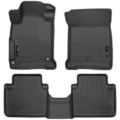 Front & 2nd Seat Floor Liners Fits 13-17 Accord Sedan