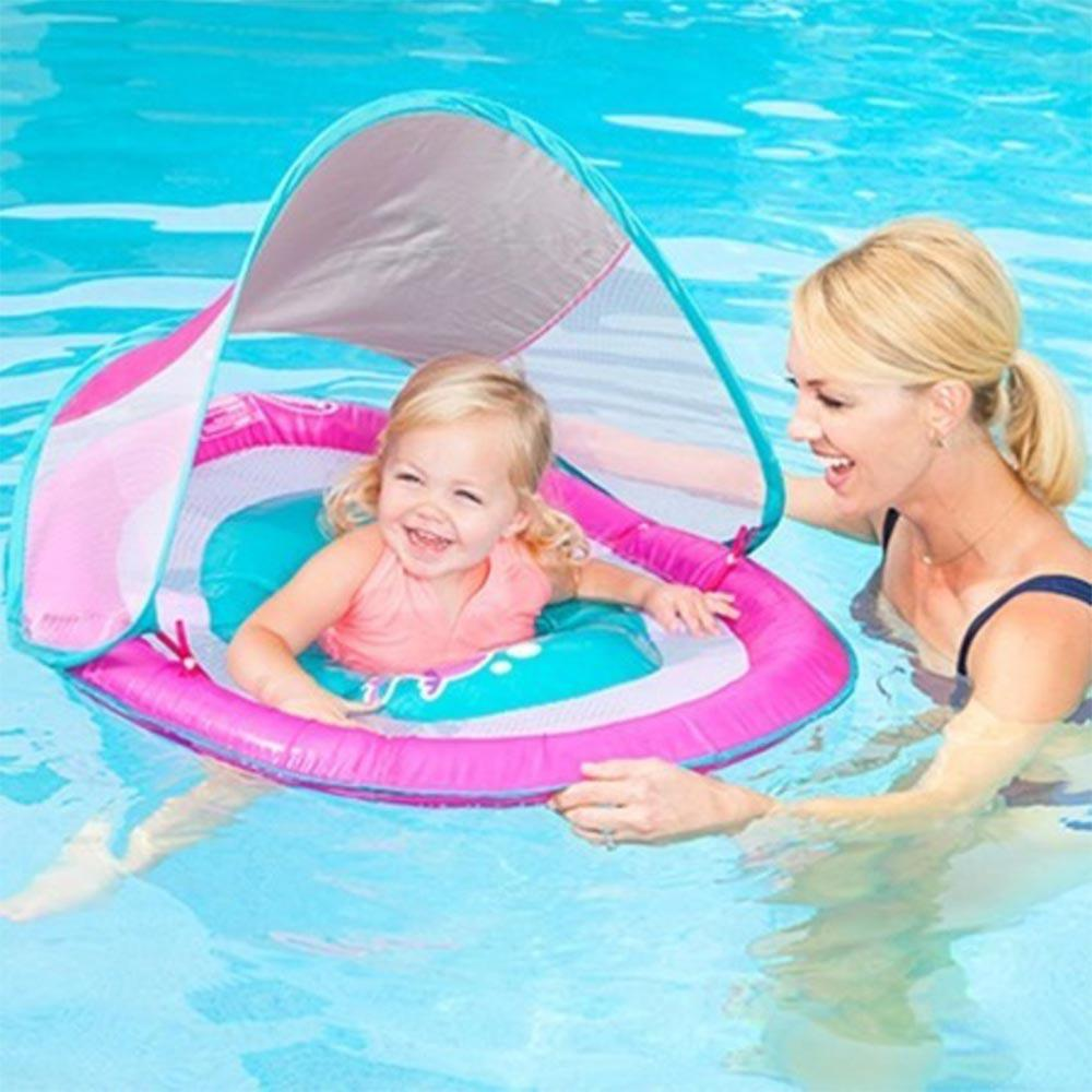 SwimWays Baby Spring Float Sun Canopy Pink Pool Toy