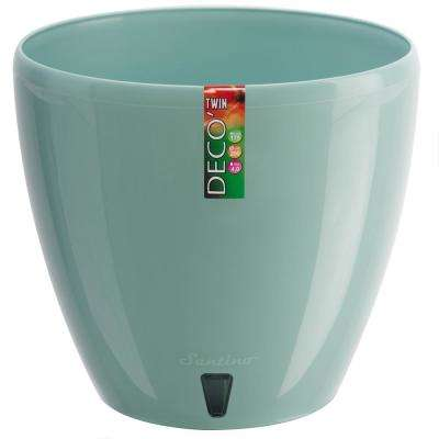 DECO 8.8 in. Jade Plastic Self Watering Planter