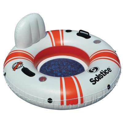 46 in. White/Red Super Chill Tube Single Float