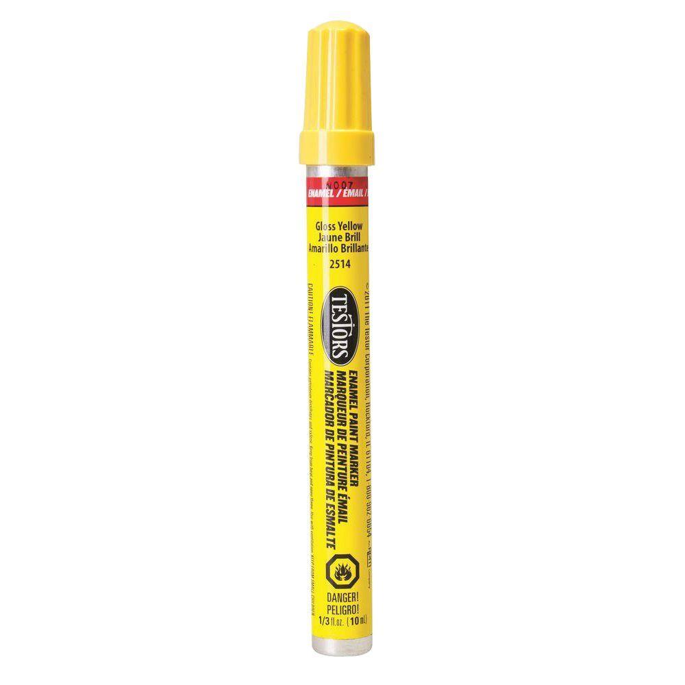 Testors Gloss Yellow Enamel Paint Marker (6-Pack)