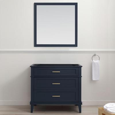 Woodfall 35.20 in. W x 21.60 in. D Vanity Cabinet Only in Midnight Blue