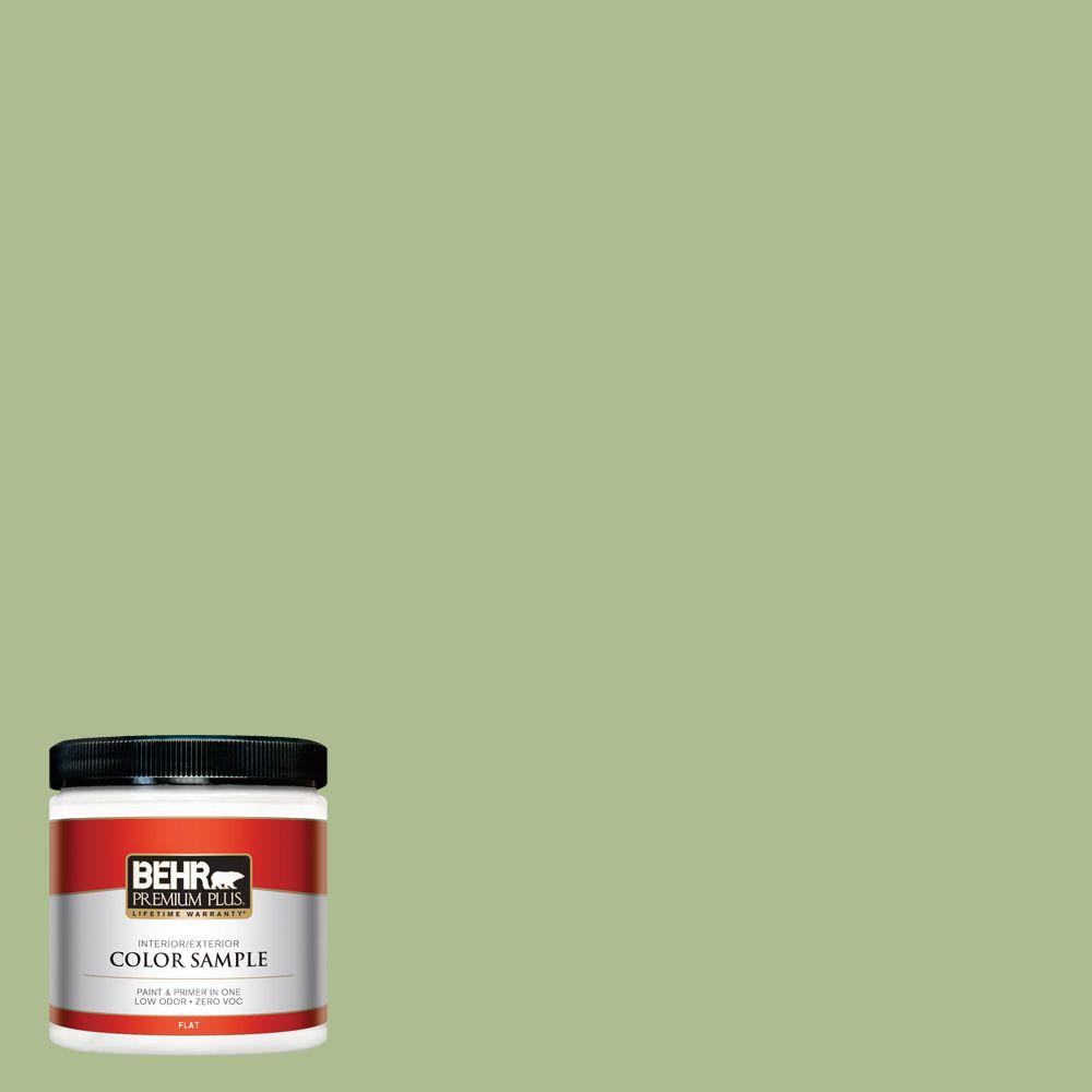 8 oz. #M370-4 Chervil Leaves Flat Zero VOC Interior/Exterior Paint and