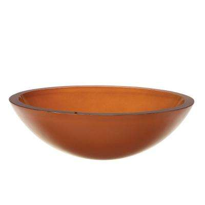 Translucence Glass Vessel Sink in Burnt Orange