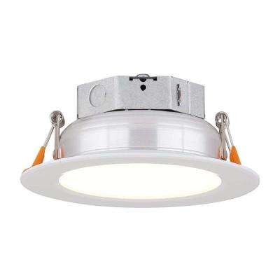 4 in. White Integrated LED Recessed Kit
