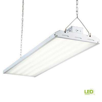 216-Watt 4 ft. White Integrated LED Backlit High Bay Hanging Light with 26000 Lumen 5000K