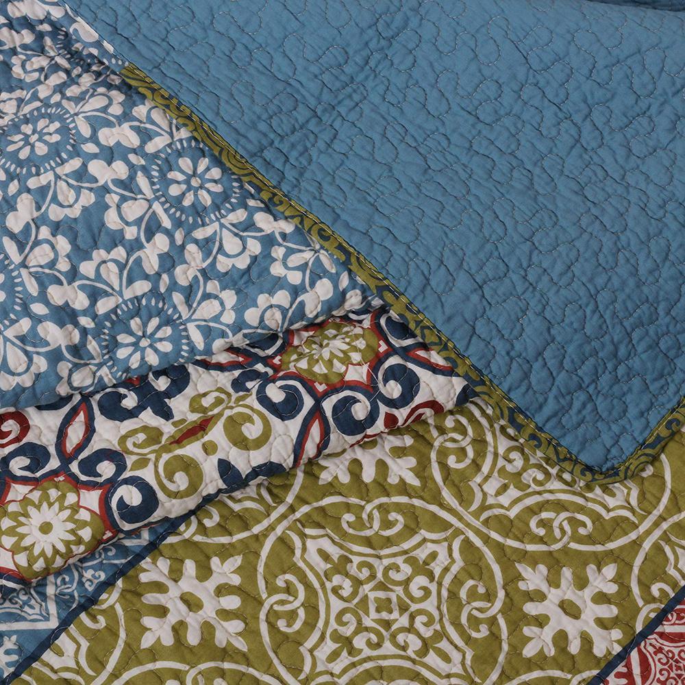 undefined Shangri-La 3-Piece Multi King Quilt Set
