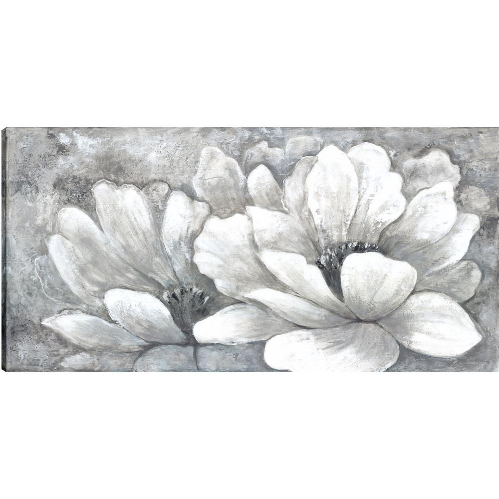 White florals i floral art fresh printed canvas wall art decor gallery wrapped wall art homana058onl the home depot