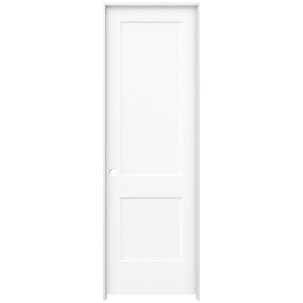 30 in. x 96 in. Monroe White Painted Right-Hand Smooth Solid