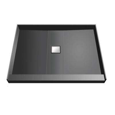 36 in. x 36 in. Single Threshold Shower Base with Center Drain