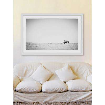 "30 in. H x 45 in. W ""Distant Grazing"" by Marmont Hill Framed Printed Wall Art"