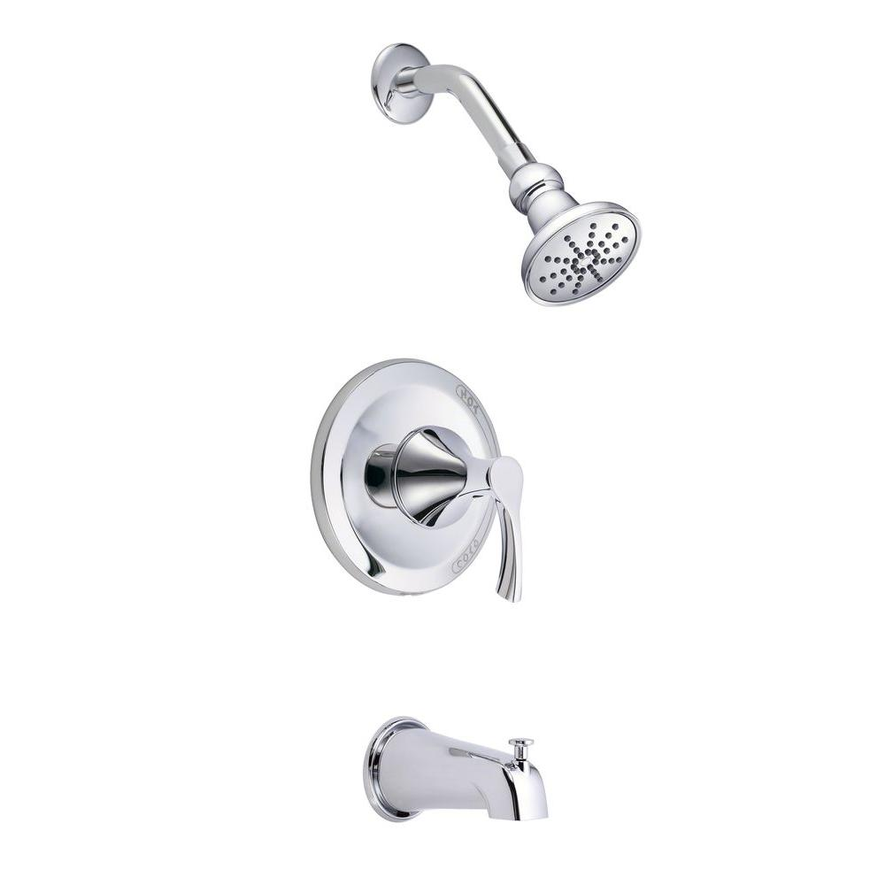 Danze Antioch 1 Handle Tub And Shower Faucet Trim Kit In Chrome Valve Not