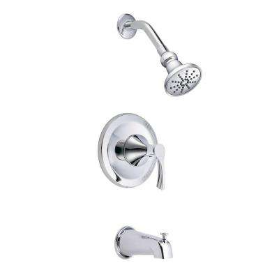 Antioch 1-Handle Tub and Shower Faucet Trim Kit in Chrome (Valve Not Included)