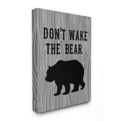 """30 in. x 40 in. """"Don't Wake The Bear"""" by Tara Moss Printed Canvas Wall Art"""