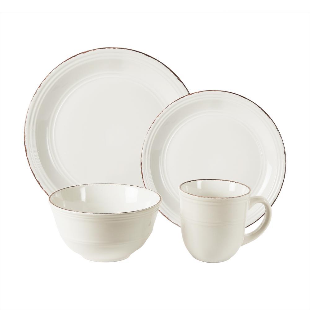 Madelyn 16-Piece White Dinner Set