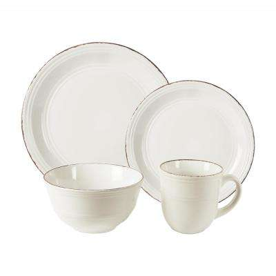 Madelyn 16-Piece White Dinner Set