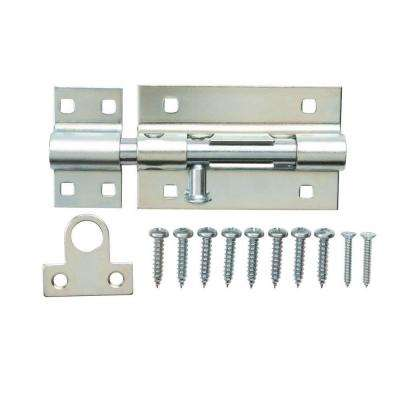 8 in. Zinc-Plated Heavy Duty Barrel Surface Bolt