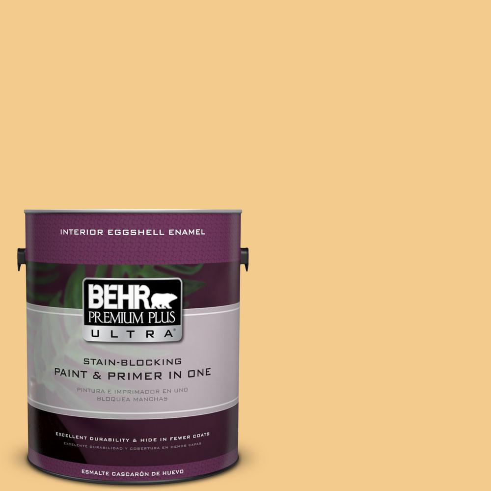 BEHR Premium Plus Ultra Home Decorators Collection 1-gal. #HDC-CL-16 Beacon Yellow Eggshell Enamel Interior Paint