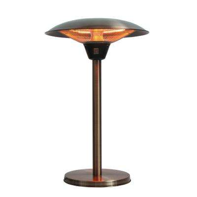 Cimarron 1,500-Watt Brushed Copper Colored Table Top Halogen Patio Heater