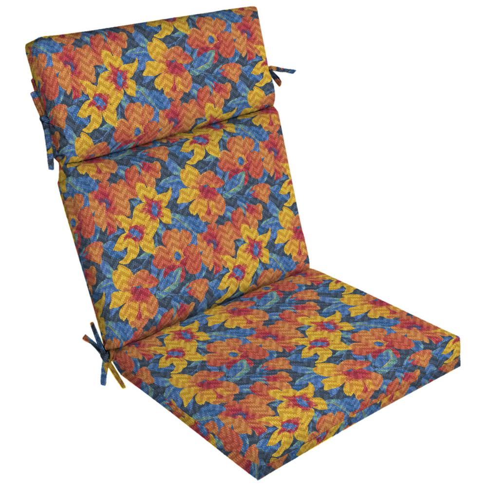 ArdenSelections Arden Selections DriWeave Disco Floral Outdoor High Back Dining Chair Cushion
