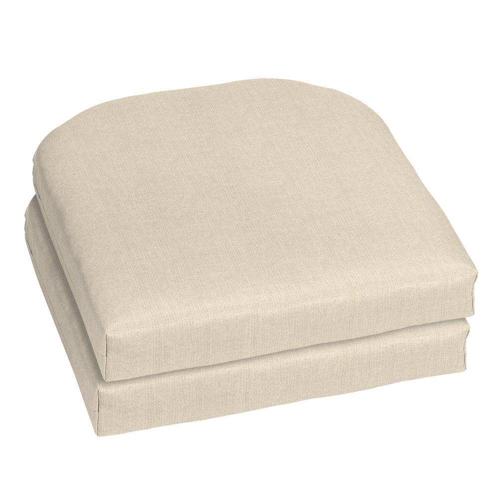 18 x 18 Sunbrella Canvas Flax Outdoor Chair Cushion (2-Pack)