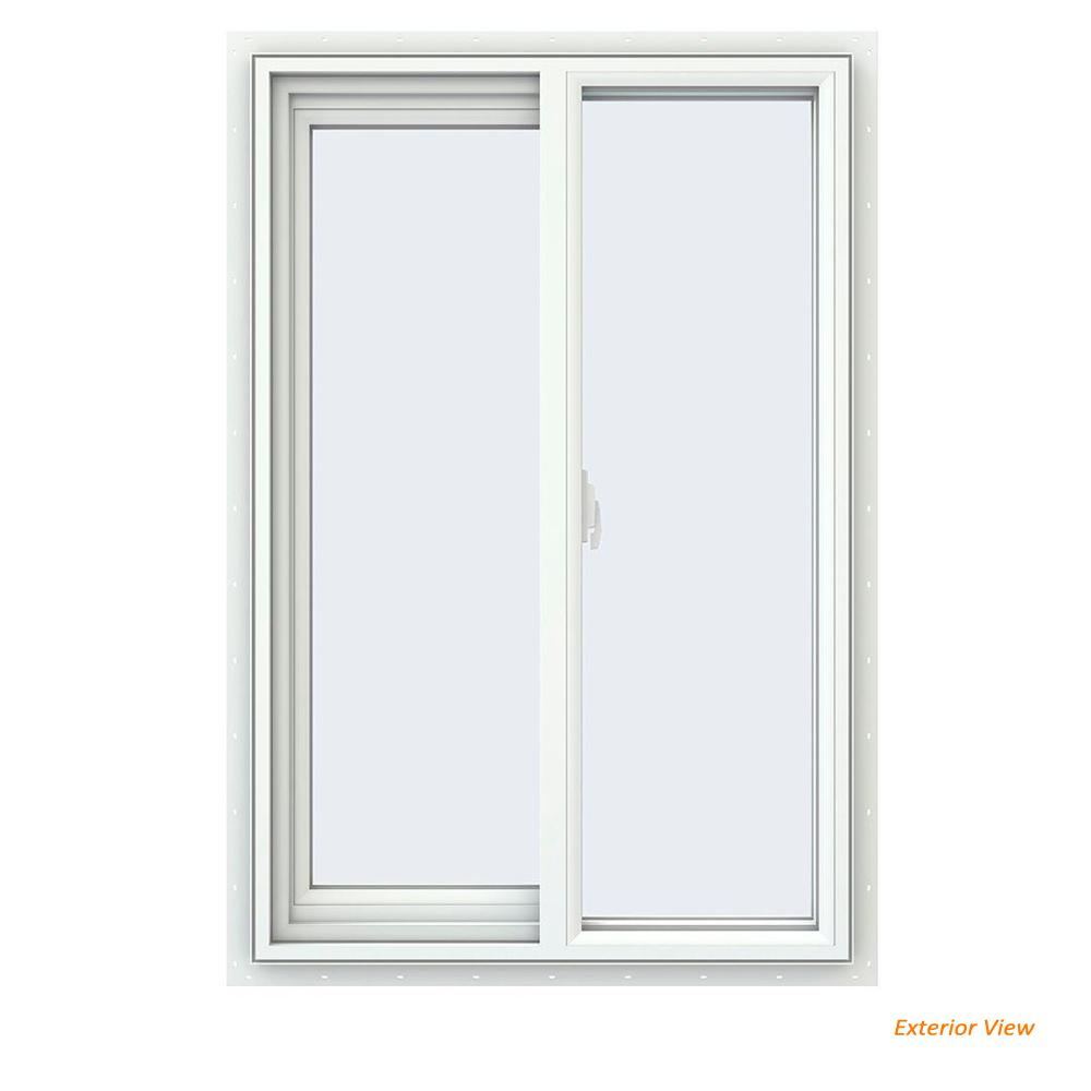 23.5 in. x 35.5 in. V-2500 Series White Vinyl Left-Handed Sliding