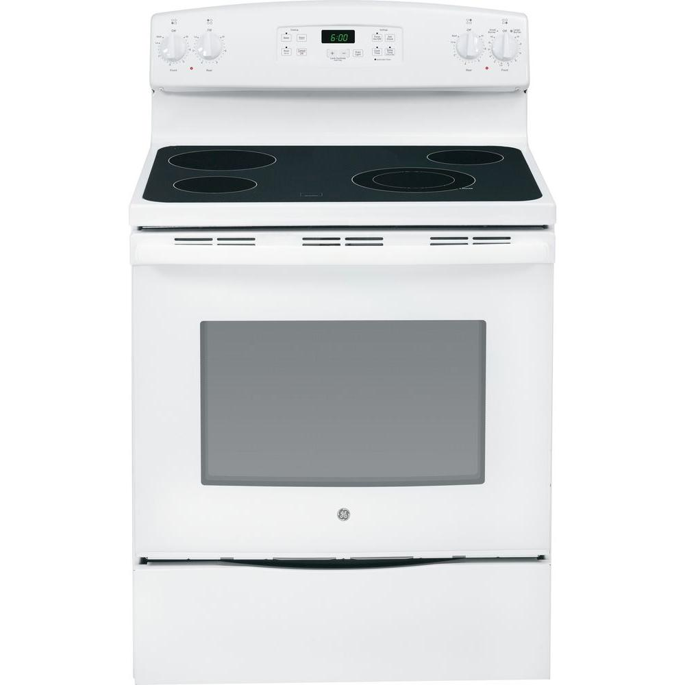 GE 5.3 cu. ft. Electric Range in White