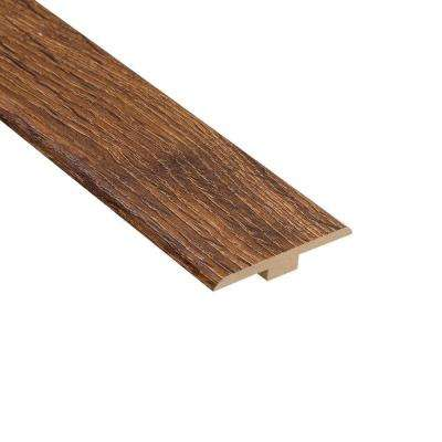 Palace Oak Dark 1/4 in. Thick x 1-7/16 in. Wide x 94 in. Length Laminate T-Molding