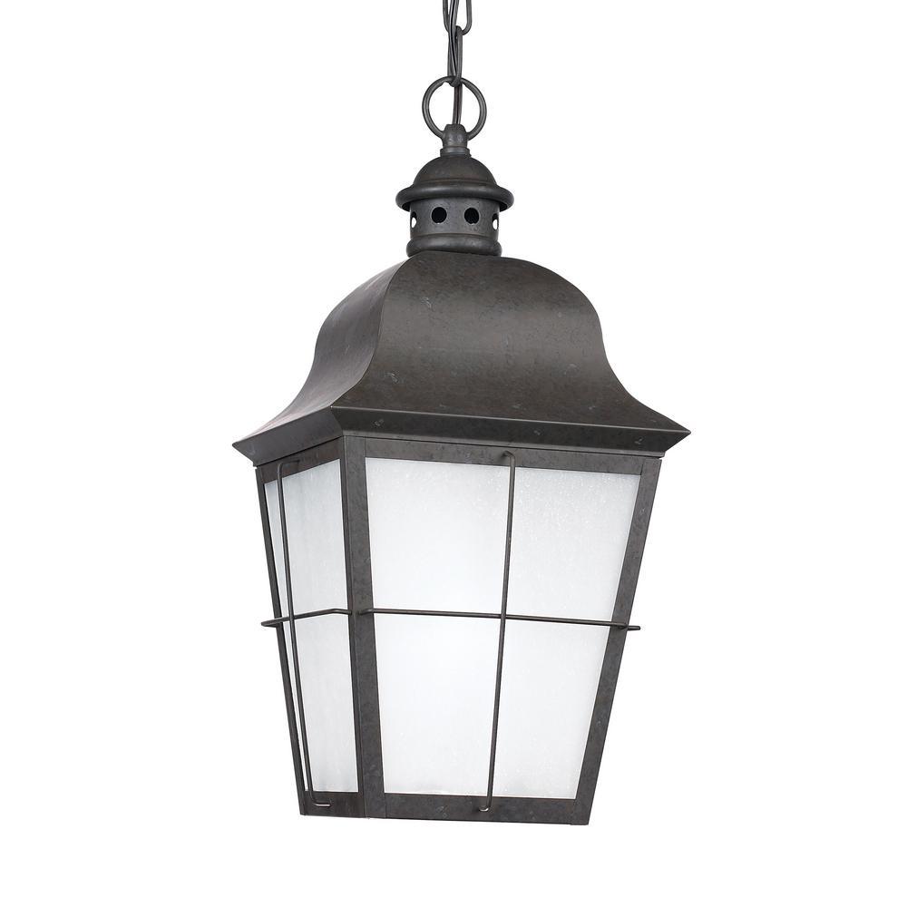 Chatham Oxidized Bronze 1-Light Outdoor Hanging Pendant