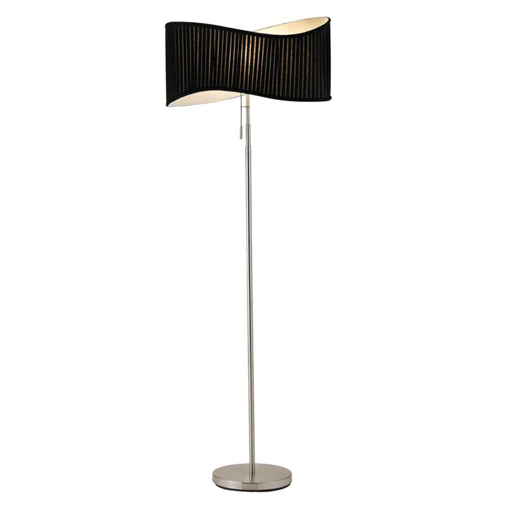 Symphony 63 in. Satin Steel Floor Lamp