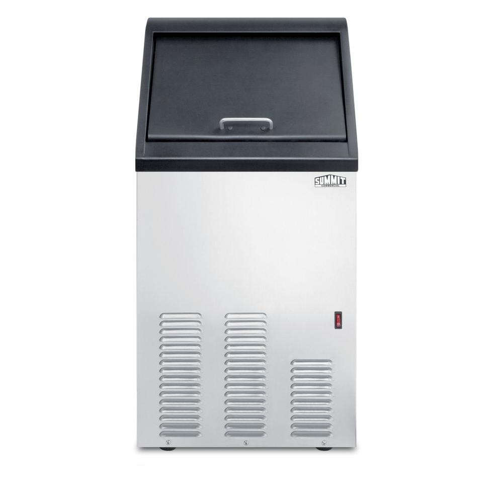 Summit Appliance 17 in. 65 lb. Built-In Icemaker in Stainless Steel