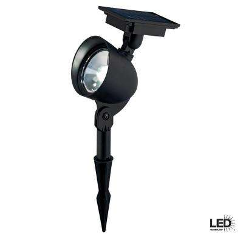 Solar Black LED Spotlight