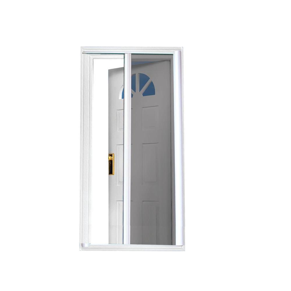 40 in. x 81.5 in. White Retractable Screen Door