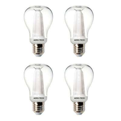 60-Watt Equivalent A19 Clear 30,000 Hours LED Light Bulb Bright White (4-Pack)