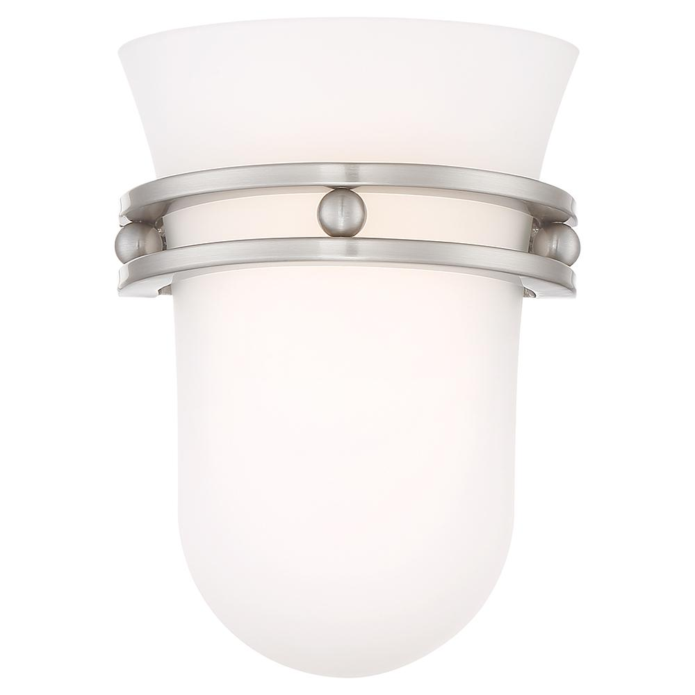 40-Watt Equivalence Brushed Nickel Integrated LED Sconce