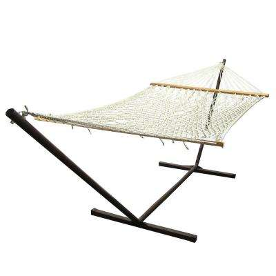 15 ft. Rope Hammock with Hammock Stand in Natural