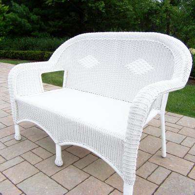Resin Wicker Patio Loveseat