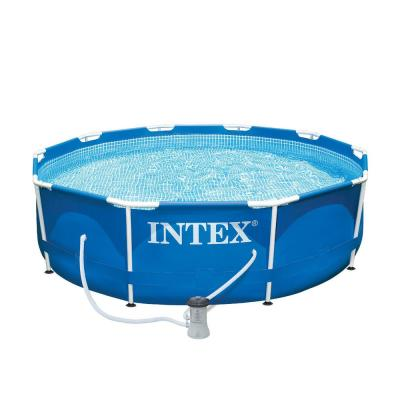10 ft. Round x 30 in. Deep Metal Frame Soft Sided Above Ground Pool with 330 GPH Filter Pump