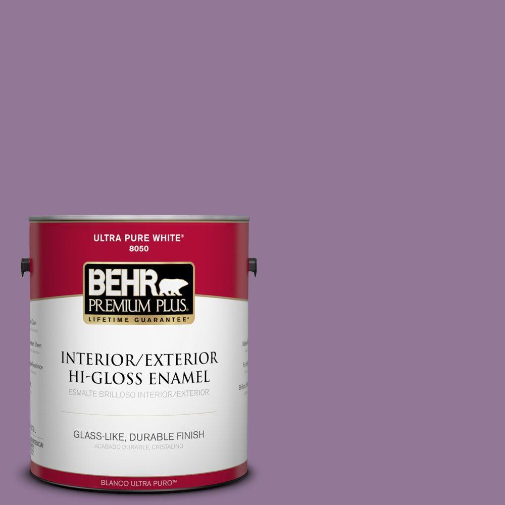 BEHR Premium Plus 1-gal. #M100-5 Passion Fruit Hi-Gloss Enamel Interior/Exterior Paint