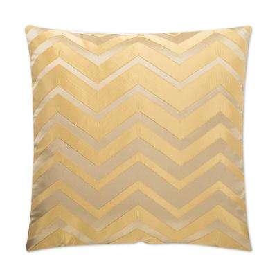 Bliss Gold Feather Down 24 in. x 24 in. Standard Decorative Throw Pillow